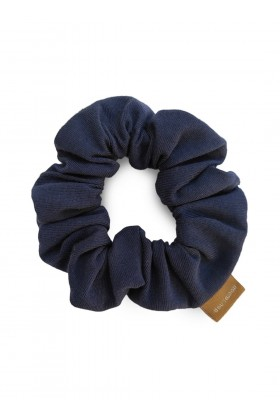 Navy organic cotton scrunchie