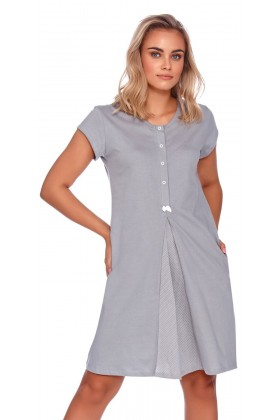Women's maternity nursing breastfeeding grey nightdress