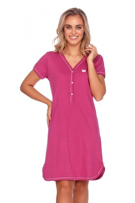 Maternity nursing breastfeeding fuchsia nightdress